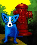 Taking Care of Business 2000 Limited Edition Print - Blue Dog George Rodrigue