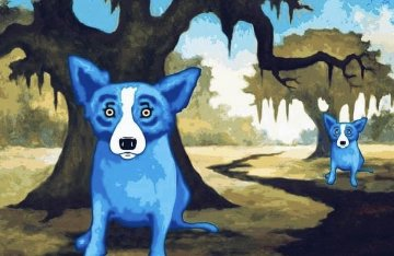 She Lives Across the Bayou 2010 Limited Edition Print - Blue Dog George Rodrigue