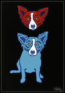Mischief on My Mind 1992 Limited Edition Print - Blue Dog George Rodrigue
