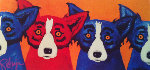 Blues Can Hide a Bad Apple 1992 Limited Edition Print - Blue Dog George Rodrigue