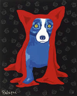 Hidin' My Blues From You 1995 Limited Edition Print - Blue Dog George Rodrigue
