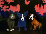 Three Amigos 2010 Limited Edition Print - Blue Dog George Rodrigue