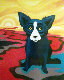 Blue Dog on the River 1998 Limited Edition Print - Blue Dog George Rodrigue