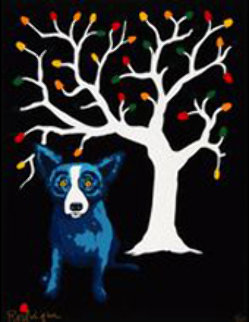 Sweet Pickin's  AP 2000 39x26 Limited Edition Print - Blue Dog George Rodrigue