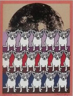 Codex Blue Dog AP 1991 Limited Edition Print by Blue Dog George Rodrigue