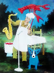 Schaeffer Crawfish And Art Festival  Poster 1999 Other - Blue Dog George Rodrigue