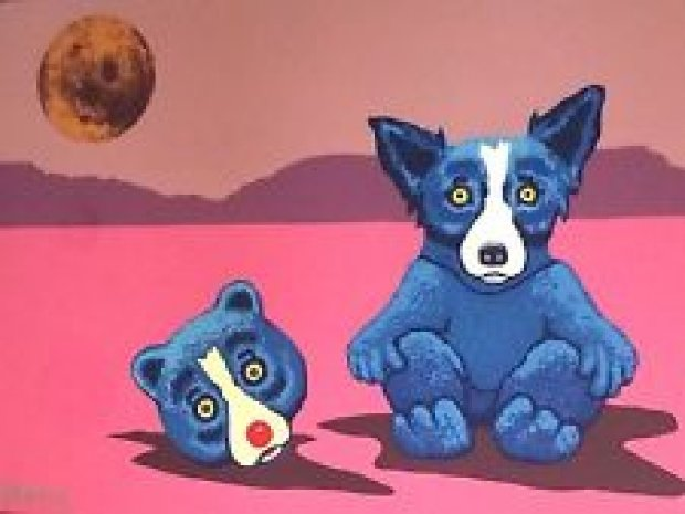 Blue Dog in a Bear Suit 1996