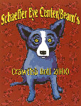Schaeffer Eye Center/Beams Crawfish Boil 2000 Limited Edition Print - Blue Dog George Rodrigue