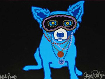 Waiting For Rex AP 1993 Limited Edition Print - Blue Dog George Rodrigue