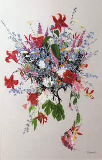 First Bloom Watercolor 1991 48x34 Watercolor - Christine Rosamond