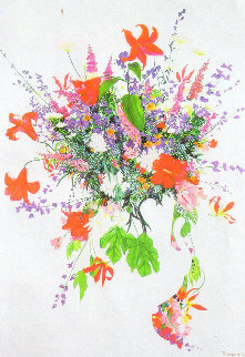 First Bloom Watercolor   1991 47x62 Watercolor - Christine Rosamond