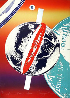 Spinning Faces in Space 1972 Limited Edition Print - James Rosenquist