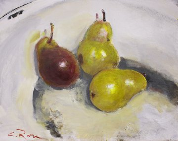Pears Study I 2018 24x30 Original Painting - Colleen Ross