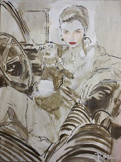 Come Take a Ride 2002 40x30 Original Painting - Colleen Ross