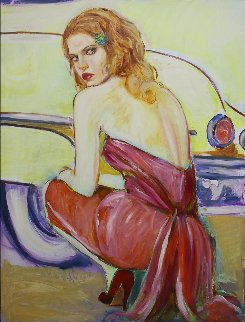 Waiting For You 2007 48x36 Original Painting - Colleen Ross