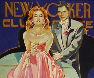 New Yorker Club 43x49 Limited Edition Print - Colleen Ross