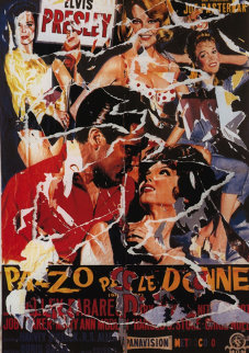 Girl Happy AP Limited Edition Print - Mimmo Rotella