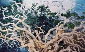 Contemporary Oak Branches Limited Edition Print - G.H Rothe