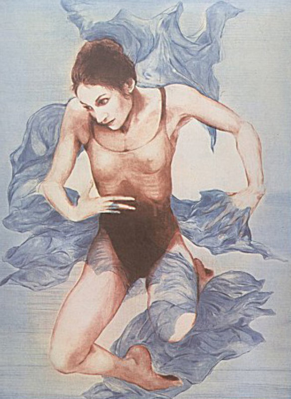 Blue Shawl (Blue Dancer) 1973