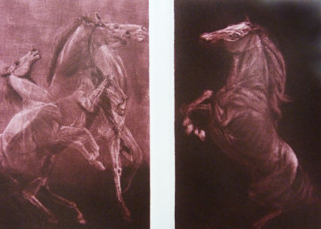 Competitors Diptych 1980 Limited Edition Print - G.H Rothe