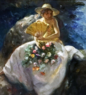 Untitled (Portrait of a Woman) 78x78 Original Painting -  Royo