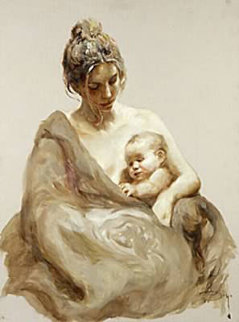 Caricia on Clay Panel 2004 Limited Edition Print -  Royo