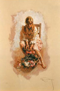 Golden Collection, incomplete suite of 3 on Clay Panel 1997 Limited Edition Print -  Royo