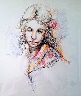 Untitled Portrait 2006 25x26 Drawing -  Royo
