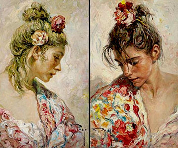 Shawl Suite of 2 PP  Limited Edition Print -  Royo