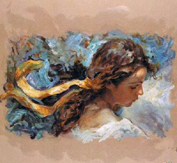 El Lazo Amarillo on clay panel Limited Edition Print -  Royo