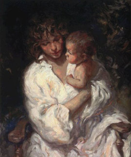 Maternidad on Clay Panel 1999 Limited Edition Print -  Royo