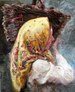 Margarita 1984 34x29 Original Painting -  Royo