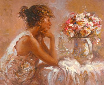 Pensativa 2000 on Panel Limited Edition Print -  Royo