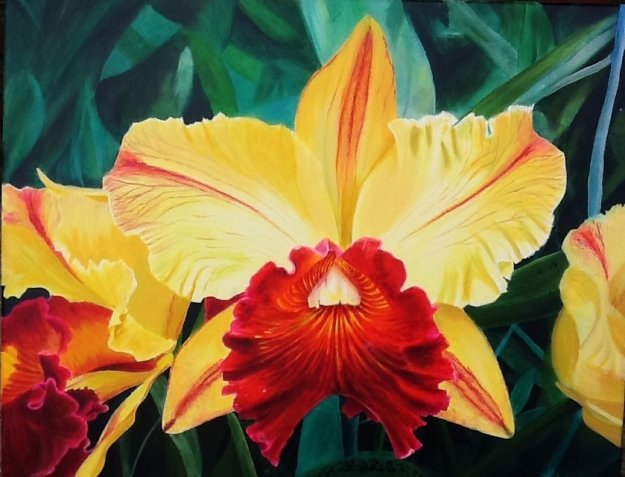 Yellow Orchid 2015 22x28