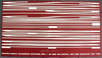 Anamorphic Painting 1995 Limited Edition Print - Edward Ruscha