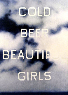 Cold Beer Beautiful Girls 2009 Limited Edition Print - Edward Ruscha