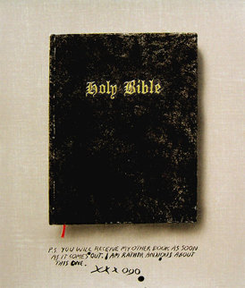 Holy Bible State I (Unique Pettibon edition) 2003 Limited Edition Print - Edward Ruscha