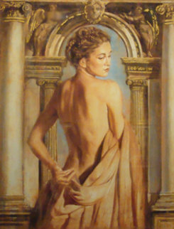 Girl with Column Limited Edition Print - Tomasz Rut