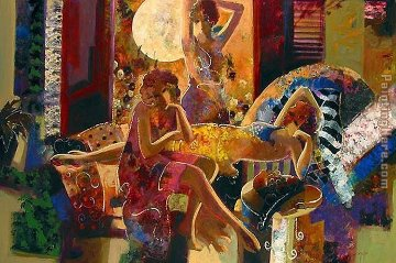 Summer Nights Embellished 44x66 Limited Edition Print -  Sabzi
