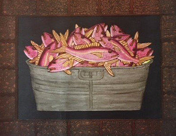 Untitled (Red Snapper in Barrel) Limited Edition Print - Mario Sanchez