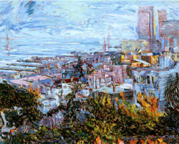 View with Bay Bridge (San Francisco)  1989 Limited Edition Print - Marco Sassone