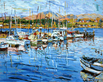 Tiburon Harbour AP 1990 Limited Edition Print - Marco Sassone