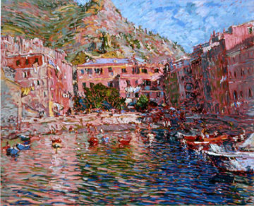 Vernazza Rosa AP  1988 Limited Edition Print - Marco Sassone