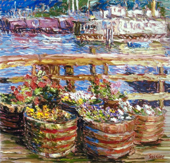 Houseboat Flowers AP 1988 Limited Edition Print - Marco Sassone