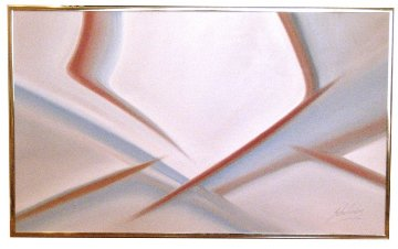 Untitled Painting 1985 32x52 Original Painting - Roy Schallenberg