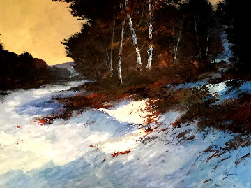 Winter Birch 40x51 Original Painting - Michael Schofield