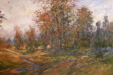 Untitled Fall Landscape 52x72 Original Painting - Michael Schofield
