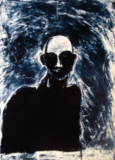 Blue Portrait 1991 Limited Edition Print - Fritz Scholder
