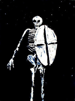 Skeleton With Shield 1986 Limited Edition Print - Fritz Scholder