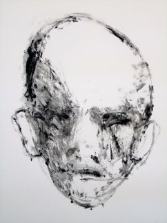 Face #2 (Face Series) Monotype 1985 40x30 Works on Paper (not prints) - Fritz Scholder